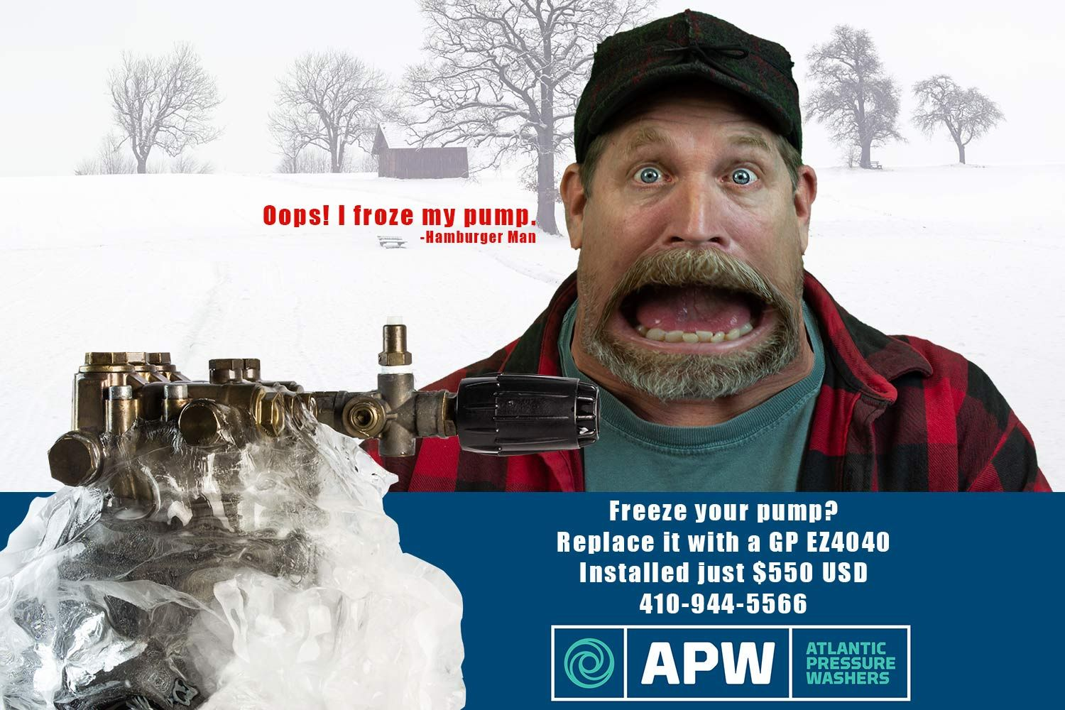 Freeze your pump? Get a replacements pump for just $550 installed!